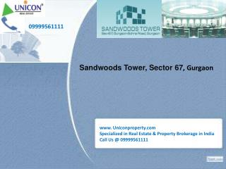 Sandwoods Tower Gurgaon-Call 09999561111 to Book Office Now!