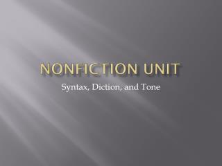 Nonfiction Unit