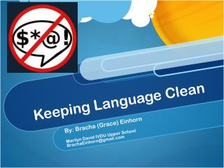 Keeping Language Clean