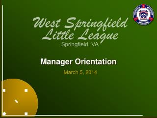 Manager Orientation