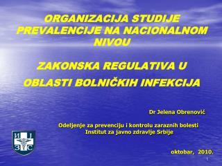 ORGANIZACIJA STUDIJE PREVALENCIJE NA NACIONALNOM NIVOU  ZAKONSKA REGULATIVA U OBLASTI BOLNICKIH INFEKCIJA