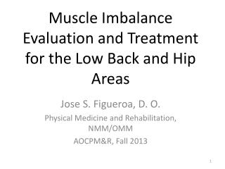 Muscle Imbalance Evaluation and Treatment for the Low Back and Hip Areas