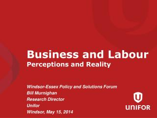 Business and Labour Perceptions and Reality