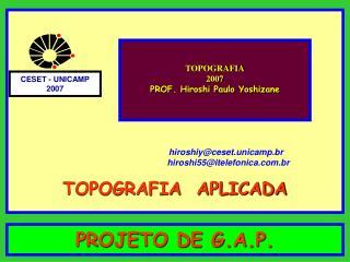 PROJETO DE G.A.P.