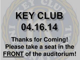 Key Club 04.16.14