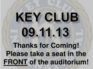 Key Club 09.11.13