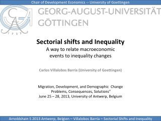 Sectorial shifts and  Inequality A way  to  relate  macroeconomic events to inequality changes