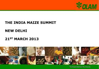 THE INDIA MAIZE SUMMIT NEW DELHI  21 ST  MARCH 2013