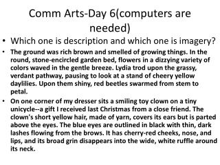Comm  Arts-Day 6(computers are needed)