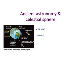 Ancient  astronomy &  celestial sphere