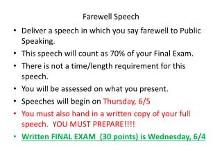 Farewell  Speech