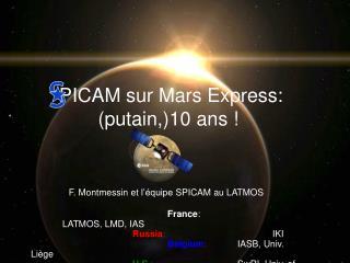 PICAM  sur  Mars  Express:  ( putain ,)10  ans  !