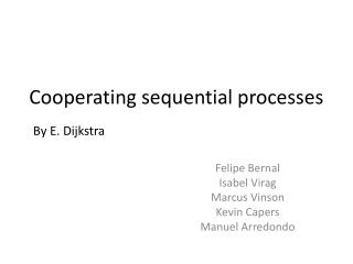 Cooperating sequential processes