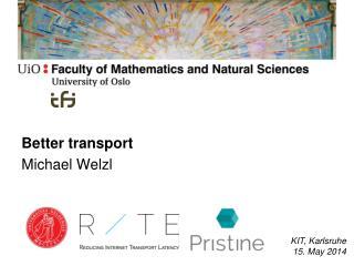 Better  transport Michael  Welzl