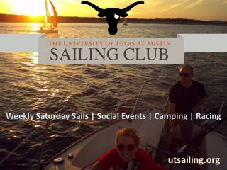 Weekly Saturday Sails | Social Events | Camping | Racing