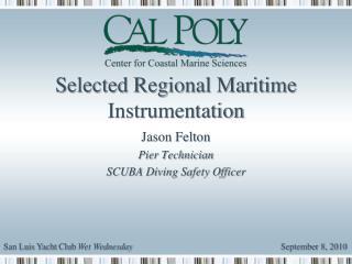 Selected Regional Maritime Instrumentation