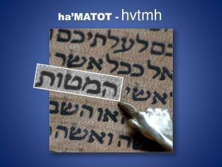 ha'MATOT  - hvtmh