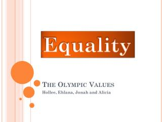 The Olympic Values