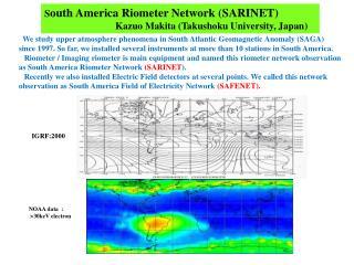 NOAA data  :     >30keV electron