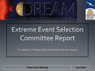 Extreme Event Selection Committee Report