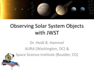 Observing Solar System Objects with JWST