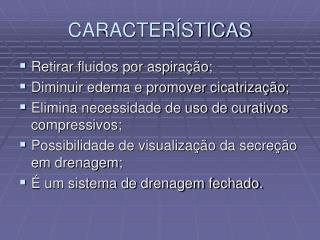 CARACTER STICAS