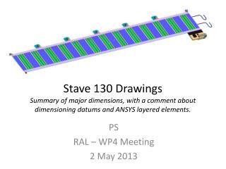 PS RAL – WP4 Meeting 2 May 2013