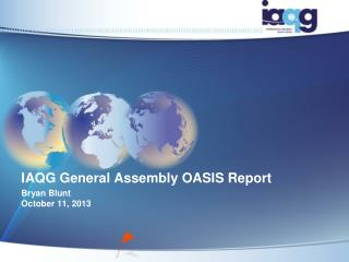 IAQG  General Assembly  OASIS Report