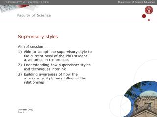 Supervisory styles