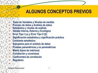 ALGUNOS CONCEPTOS PREVIOS