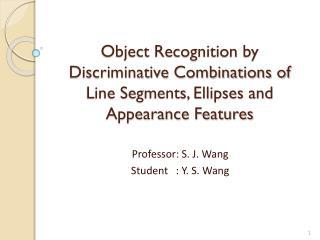 Professor: S. J. Wang Student   : Y. S. Wang