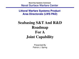 Seabasing ST and RD Roadmap For A Joint Capability