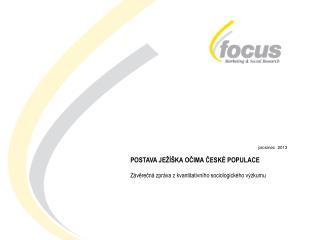 prosinec  2013 POSTAVA JEŽÍŠKA OČIMA ČESKÉ POPULACE