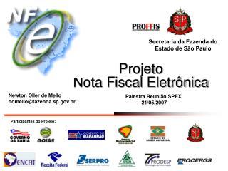Projeto  Nota Fiscal Eletr nica