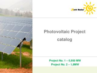Photovoltaic  Project catalog