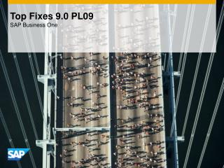 Top Fixes 9.0 PL09 SAP Business One