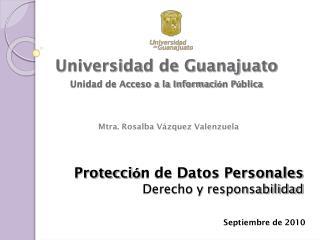 Protecci ó n de Datos Personales Derecho y responsabilidad