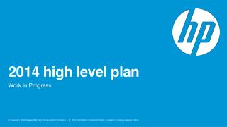 2014 high level plan
