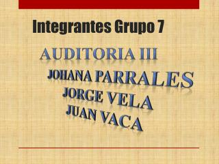 Integrantes Grupo 7