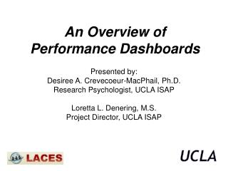 An Overview of Performance Dashboards