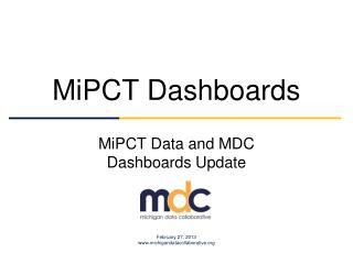 MiPCT Dashboards