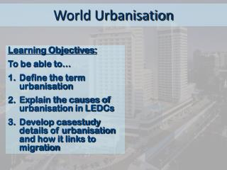 World Urbanisation