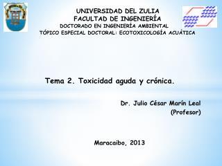 Dr. Julio César Marín Leal (Profesor)