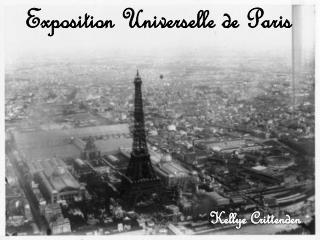 Exposition  Universelle  de  Paris Kellye Crittenden