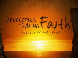 What Is Faith? Vine's  – A firm persuasion, conviction based upon hearing.