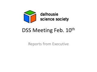 DSS Meeting  Feb. 10 th