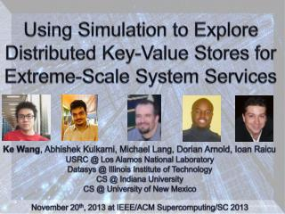 Using Simulation to Explore Distributed Key-Value Stores for Extreme-Scale System Services