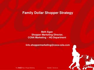 Family Dollar  Shopper Strategy