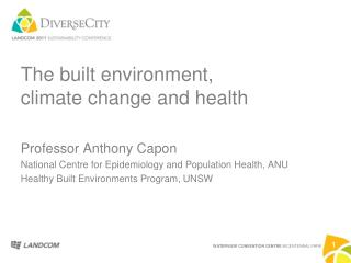 The built environment, climate change and health