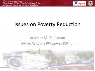 Issues on Poverty Reduction